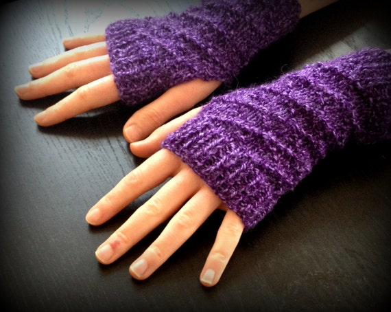 how to make fingerless gloves with 4 double pointed needles