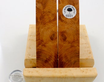 Redwood Burl, wood Knife Scales Not stabilized, Wood blanks for art #6931
