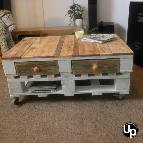 Rustic Wood Pallet Coffee Table: Shabby Chic Pallet Coffee Table Rustic By Urbanpallets247