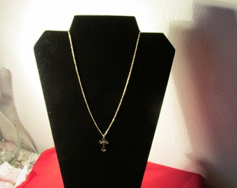 """Vintage Goldtone Cross and Chain Sale 18"""""""