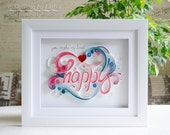 Quilling art Quilling wall art Quilling art Paper quilling Art Love Heart Happy Wedding Anniversary Handmade Decor Design Gift Artwork