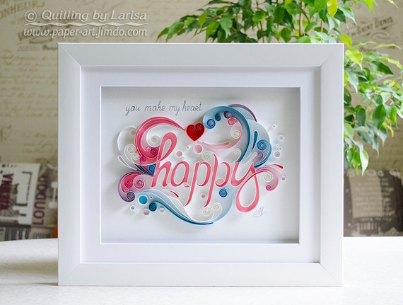 Wall Decoration For Wedding Anniversary : Quilling art wall paper