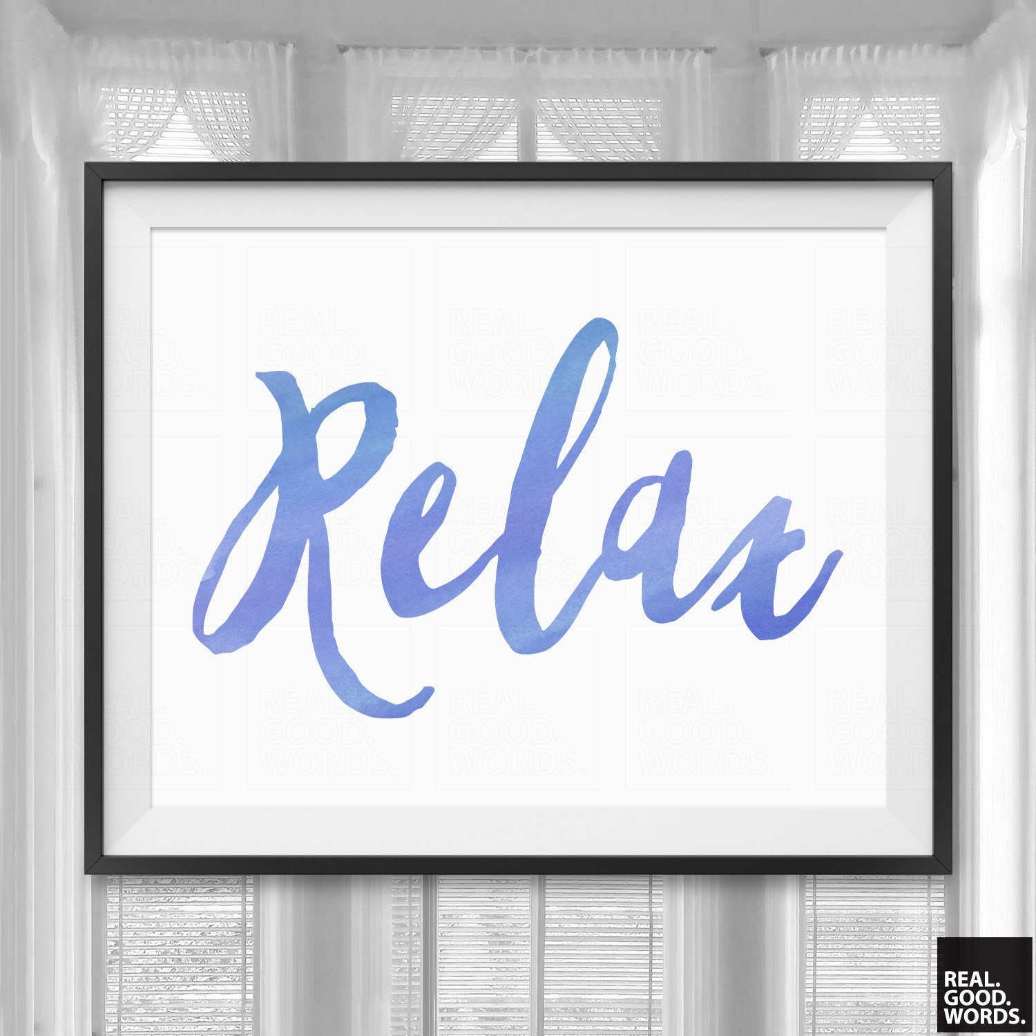 relax sign bathroom wall decor home decor print by realgoodwords