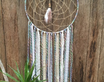 Pastel coloured dream catcher