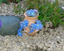Set of 3 Fairy Terracotta Pots, Fairy Garden,Fairy Garden Accessory, Fairy Mini Decor