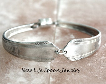 "Spoon Bracelet""Paramont"" Silverware Jewelry Spoon Bracelet Vintage Jewelry Antique Bracelet Spoon Handles Fork Jewelry Wedding Gift-43"