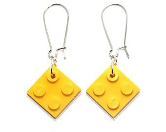 LEGO Dangle Earrings - Choose from 5 Colours // Lego Dangles / Lego Earrings / Lego Dangly Earrings / Lego Drop Earrings / Lego Jewelry