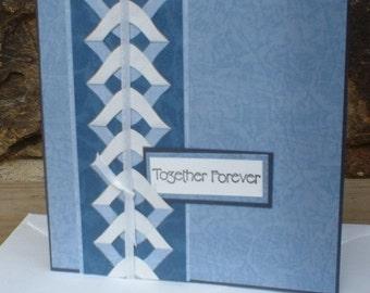Blue Together Forever Wedding Card