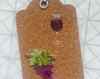Cork Gift Tags • Wine • Set of 4 • Embellishments • Bachelorette • Bridal Shower • Housewarming