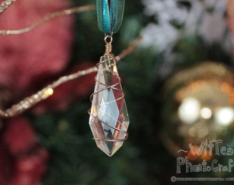Wire Wrapped Crystal - Handmade Necklace