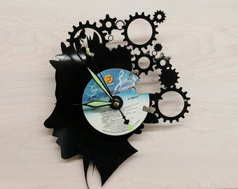 Steam Punk Vinyl Record Clock