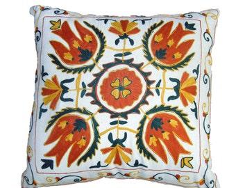 Suzani Embroidery Cushion 40 cm x 40 cm 14033