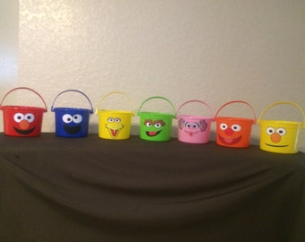 3 Sesame Street Pails- we can do any theme/character!