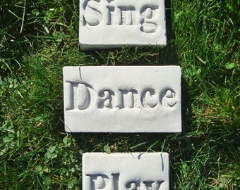 """Sing Dance Play Décor (Featuring Everwood Garden Art's """"Poetic Pavers"""")"""