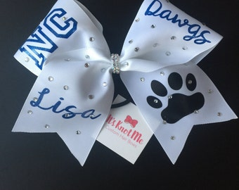 Personalized High School Cheer Bow
