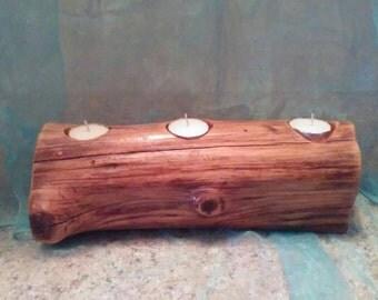 Beautiful Cedar Mini tealight fireplace