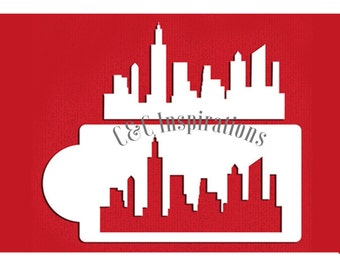 New York Skyline cake stencil