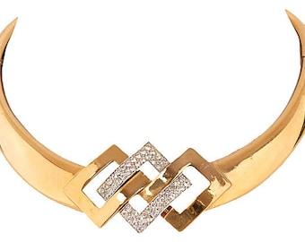 Lanvin Retro-Inspired Rhinestone Necklace