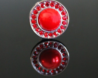 18mm Red Snap Button