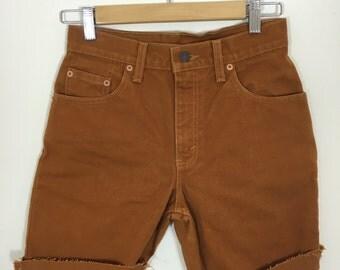 Burnt Orange/Brown Cut off Shorts // Size: 5 (Women's 0)
