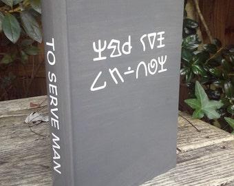 "The Twilight Zone  -  ""To Serve Man"" -  wood stash box -"