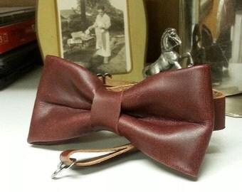 Latigo Leather Bow Tie
