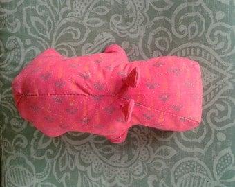 Fabric hippopotamus, Soft Sculpture, Scrap fabric sculpture, Hippo, Art Doll, Fabric Art Collectible Hippopotamus