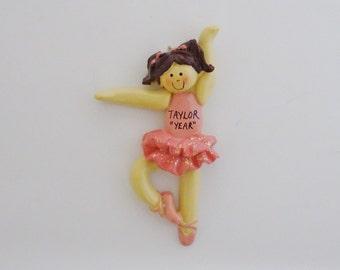 Personalized Girl Ballerina Dancer Ornament - Personalized Ballerina Ornament - Ornament for Girl that Loves Ballet