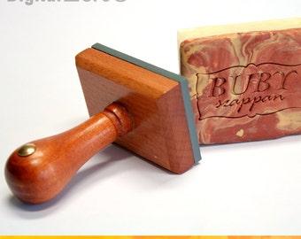 "Custom soap stamp, custom fondant stamp, custom logo stamp, custom monogram fondant, handmade soap favors, monogram cookie stamp - under 3"""