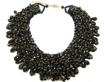 Chunky Crystal Necklace - Statement Necklace
