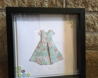 Framed Origami Tea Dress