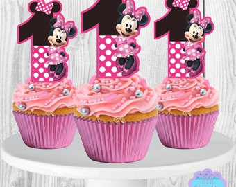 Minnie Mouse Cupcake Toppers, Cupcake Picks