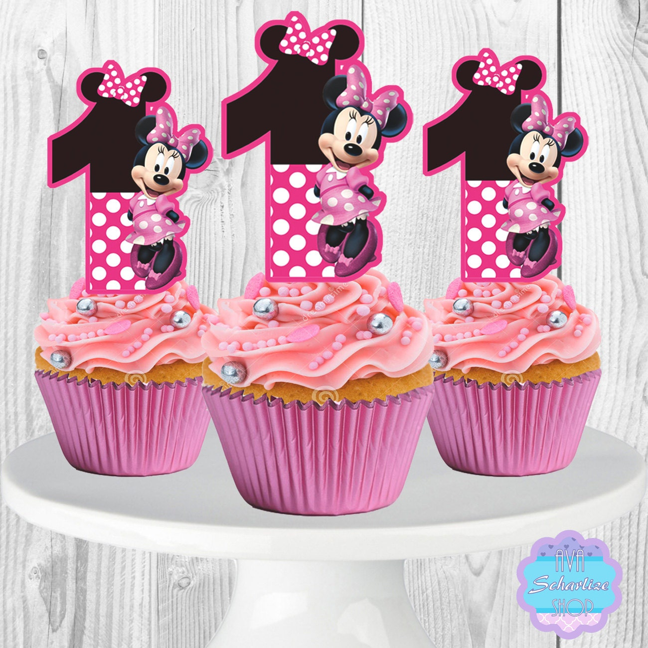 Minnie Mouse Cupcake Toppers Cupcake Picks