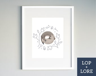 "Kids Nursery Print | Illustrated Print | Neutral Art | Baby Deer | Bambi | Forest Friends | Woodland Nursery | ""Oh My Deer"""