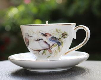 Kookaburra Teacup Candle