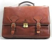 Mens Brown Leather Bag, Vintage Leather Bag, Work Bag, Laptop bag, Vintage men's handbag
