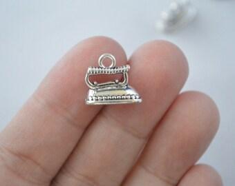 6 Pcs Clothes Iron Charms Antique Silver Tone 3D 15x13mm - YD0534