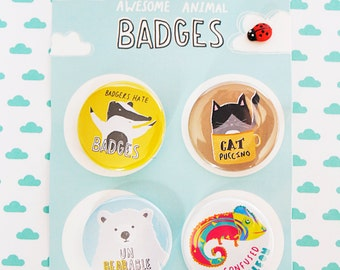 Awesome Animal Badge pack