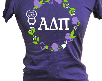 alpha delta pi shirt greek wear sorority gift adpi letters adpi colors adpi diamonds adpi lion welcome home to adpi sorority