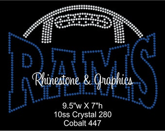 Rhinestone Football Rams Design Pattern Graphic Design Instant Download EPS SVG Cutting Files