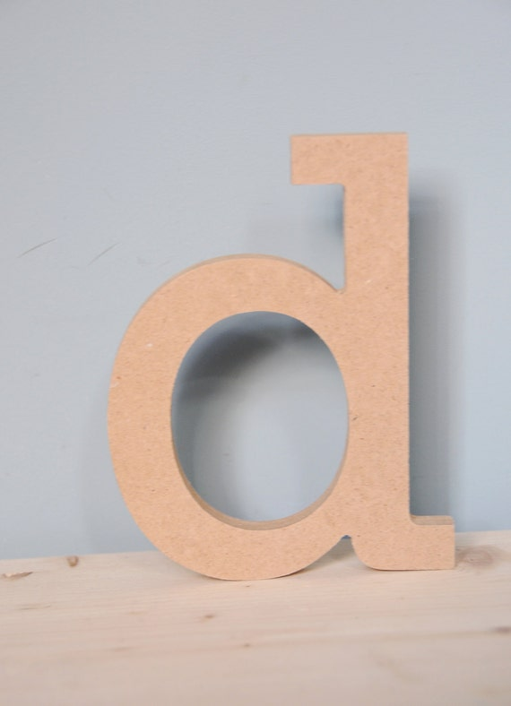 Standing wooden letter 10cm 4 mdf lowercase letter for Standing wood letters to paint