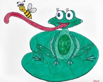 8.5x11 Print: Frog