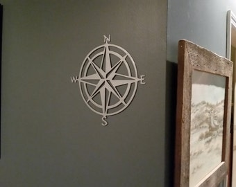 Compass wall art- Metal compass rose