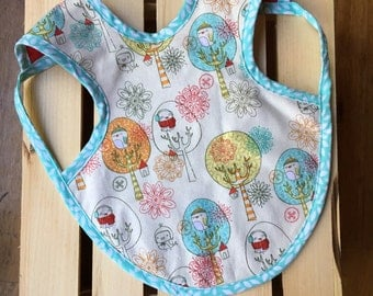 Snow Birds Bapron - Apron bib with pocket - available for infants and toddlers!