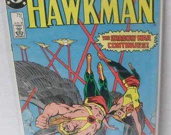 1986 New Adventures of Hawkman #1  (2nd Series) The Shadow War Continues Good Condition Vintage DC Comic Book