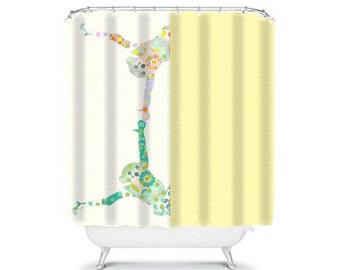 kids shower curtain yellow shower curtain kids bathroom decor childrens shower curtain boys shower