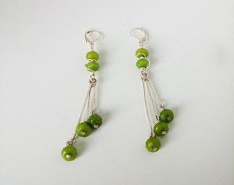 Green cherries - Earrings - FREE SHIPPING