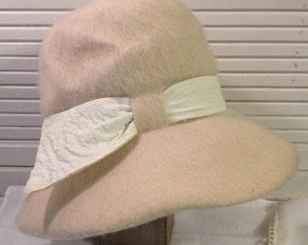 Wool Bucket Hat 1960s or 1970s Vintage #1-0141-10