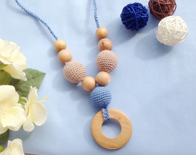 Teething necklace / Nursing necklace / Babywearing necklace - Jeans symphony