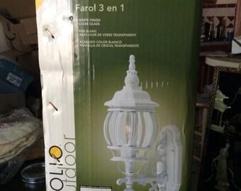 Portfolio 3 In 1 Outdoor Lantern Light White 041798